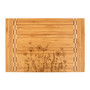 Floral Garden Bees - Bamboo Cutting Board with Butcher Block Inlay