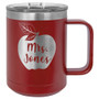 Apple Custom Name - 15 oz Coffee Mug