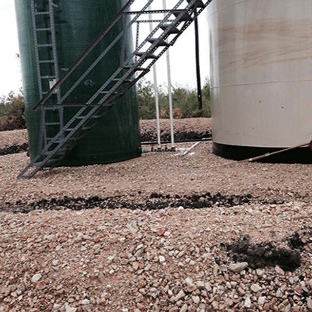 spill around oil tanks