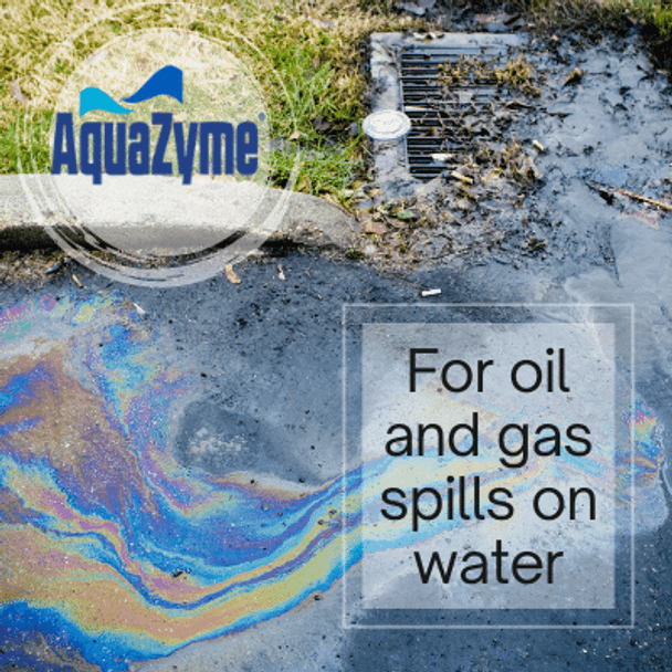 aquazyme for oil and gas spills on water