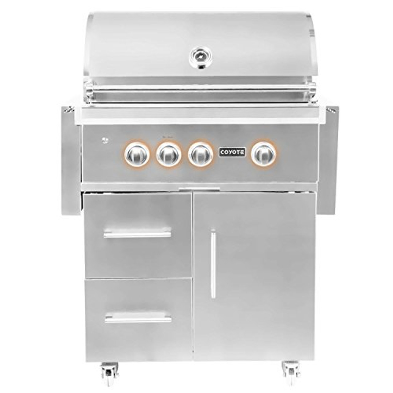 Coyote S-Series 30-Inch 2-Burner Grill on Cart Natural Gas Grill with  Rapidsear Infrared Burner, Ceramic Briquette Grids- C2SL30NG-FS