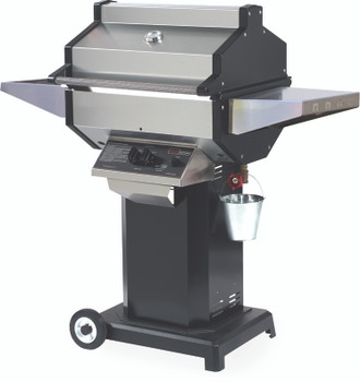 Phoenix SDBOCP Stainless Steel Propane Gas Grill Head On Black Aluminum Pedestal Cart