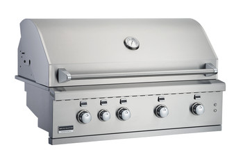 Broilmaster BSG424N 42-in Built-In Gas Grill with 4 Burners, Work Lights, Rear IR Burner, and LED controls