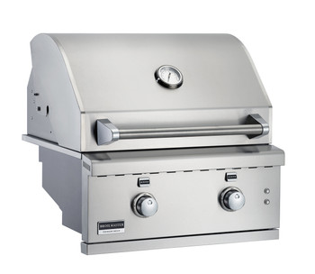 Broilmaster BSG262N 26-in Built-In Gas Grill with 2 Burners, Work Lights, and LED controls
