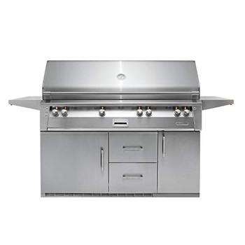 "Alfresco 56"" Refig Cart Grill, 3 Burner, Rotis, Double Door, Double Drawer, Sear Zone, LP - ALXE-56BFGR-LP"