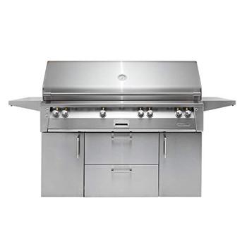 """Alfresco 56"""" Deluxe Cart Grill, 3 Burner, Rotis, Double Door, Double Drawer, Sear Zone, LP - ALXE-56BFGC-LP"""