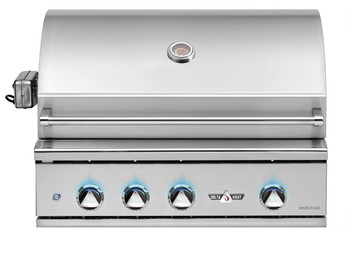 Delta Heat 32-Inch Built-In Propane Gas Grill with Infrared Rotisserie and Sear Zone