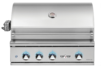 Delta Heat 32-Inch Built-In Natural Gas Grill with Infrared Rotisserie and Sear Zone