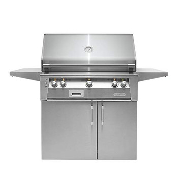 "Alfresco 36"" Cart Grill, 2 Burner, Rotis, Double Door, LP - ALXE-36C-LP"