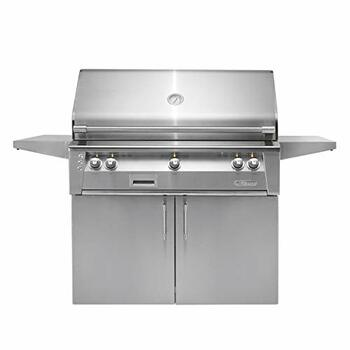 "Alfresco 42"" Cart Grill, 2 Burner, Rotis, Double Door, Sear Zone, LP - ALXE-42SZC-LP"