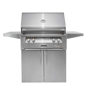 "Alfresco 30"" Cart Grill, 2 Burner, Rotis, Double Doors, LP - ALXE-30C-LP"