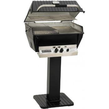 Broilmaster P3-sx Super Premium Propane Gas Grill On Black Patio Post
