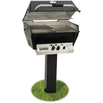 Broilmaster P3-sx Super Premium Propane Gas Grill On Black In-ground Post