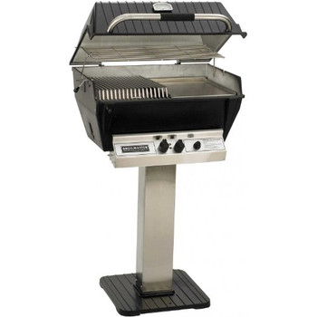 Broilmaster P3-sx Super Premium Propane Gas Grill On Stainless Steel Patio Post