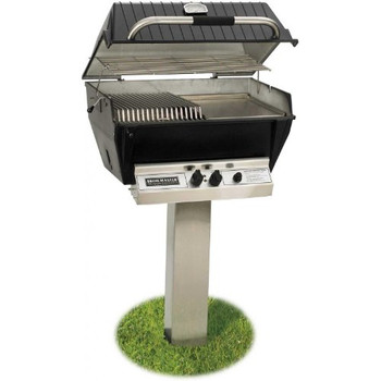 Broilmaster P3-sx Super Premium Propane Gas Grill On Stainless Steel In-ground Post