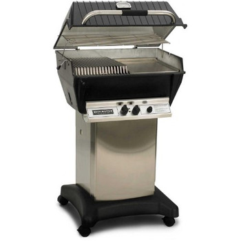 Broilmaster P3-sxn Super Premium Natural Gas Grill On Stainless Steel Cart