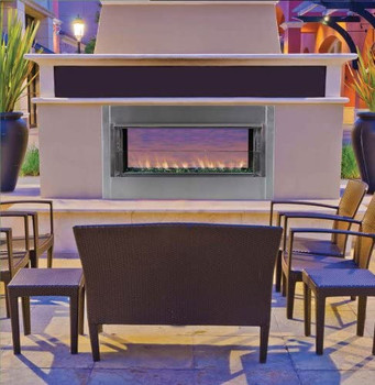 "OPEN BOX | Superior 43"" Natural Gas Electronic Ignition Linear Outdoor Vent-Free Fireplace"