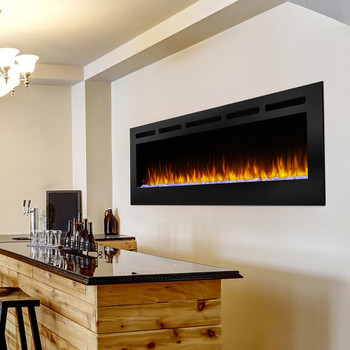 SimpliFire 60-in Allusion SimpliFire Wall Mount Electric Fireplace