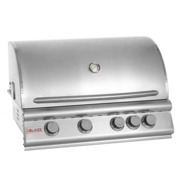 Blaze 32 Inch 4-Burner Built-In Natural Gas Grill With Rear Infrared Burner - BLZ-4-NG