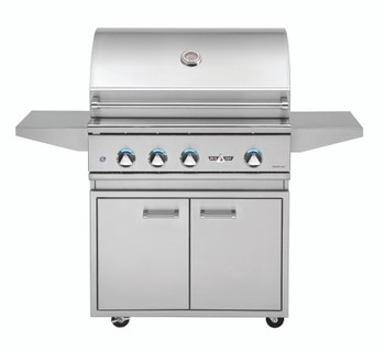 Delta Heat 32-Inch Freestanding Natural Gas Grill with Infrared Rotisserie and Sear Zone