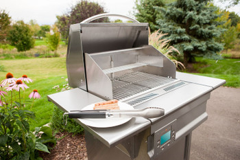 Memphis Grills Advantage Plus Wi-Fi Controlled 26-Inch 430 Stainless Steel Pellet Grill - VG0050S4-P