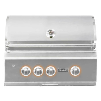"Coyote 30"" Grill; LED Lights, Infinity Burners, Ceramic Heat Grids, Natural Gas"
