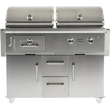 Coyote 50-inch Freestanding Propane Gas/Charcoal Dual Fuel Grill