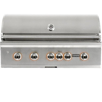 "Coyote 42"" Grill; LED Lights; Infinity Burners; Ceramic Heat Grids, Natl Gas"