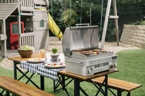 Coyote Stainless Steel Portable Liquid Propane Gas Grill - C1PORTLP