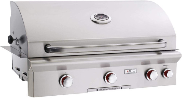 OPEN BOX | AOG  T-Series 36-Inch 3-Burner Built-in Natural Gas Grill with Rotisserie - 36NBT