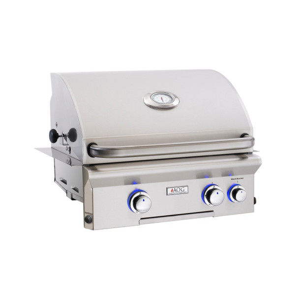 S&D AOG L-Series 24-Inch 2-Burner Built-in Natural Gas Grill with - 24NBL