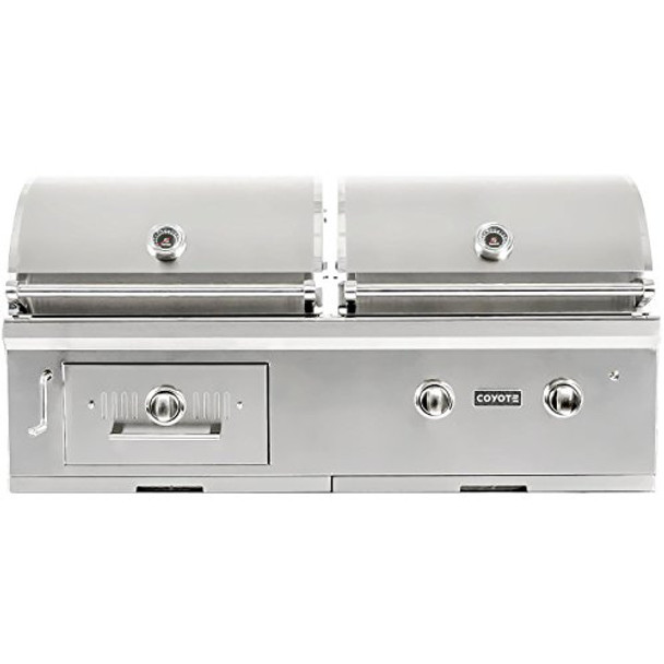 """Coyote 50"""" Hybrid Gas & Charcoal Grill; Natural Gas"""