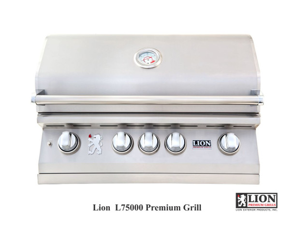 Lion L75000 32-Inch Stainless Steel Built-In Natural Gas Grill