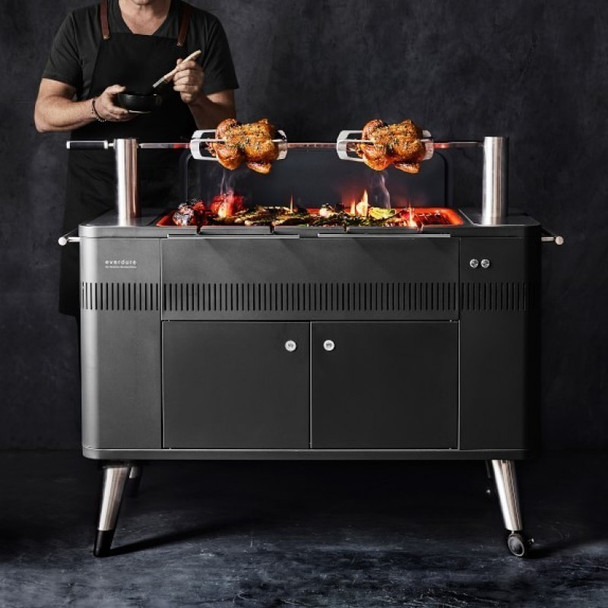 Charcoal Grill and Rotisserie