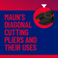 What are diagonal cutting pliers and what are they used for?