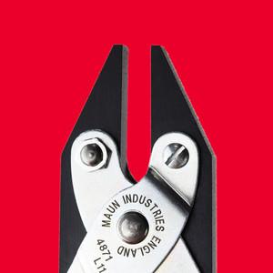 Smooth Jaws Flat Nose Parallel Plier Return Spring 140 mm | Maun