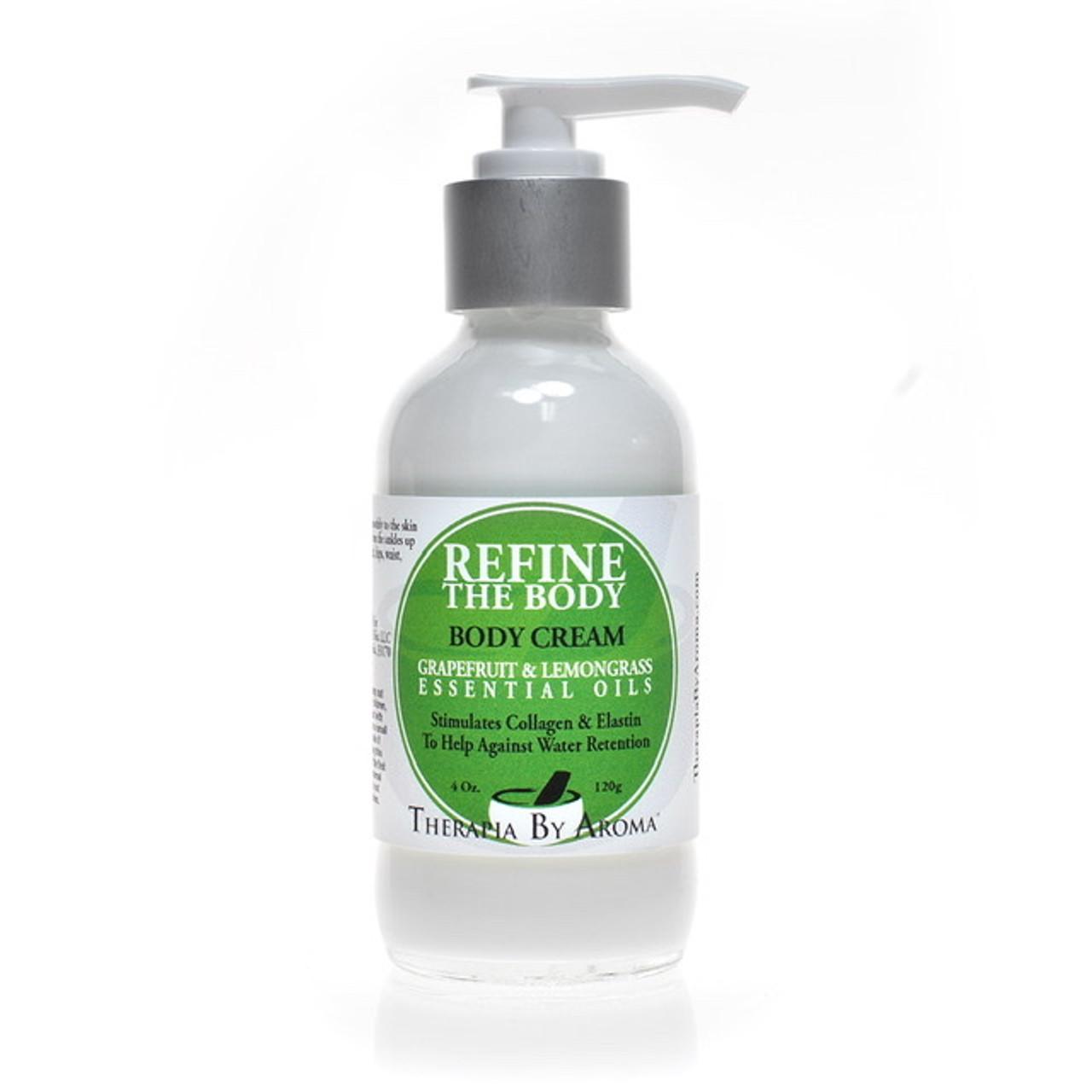 Refine Body Water Retention Body Cream With Lemongrass Grapefruit Essential Oils Therapia By Aroma