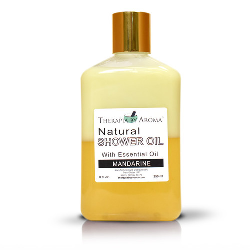 Mandarine shower oil with essential oils by therapia by aroma