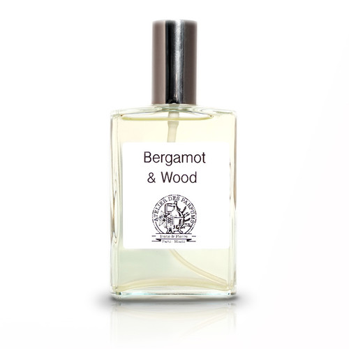 Bergamot and Wood Eau de Parfum 100ml made with essential oils - Natural Perfume therapia by aroma. Atelier des parfums.