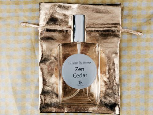 Zen Cedar Eau de Parfum 100ml made with essential oils - Natural Perfume therapia by aroma. Atelier des parfums.
