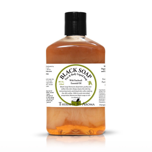 black soap patchouli liquid soap