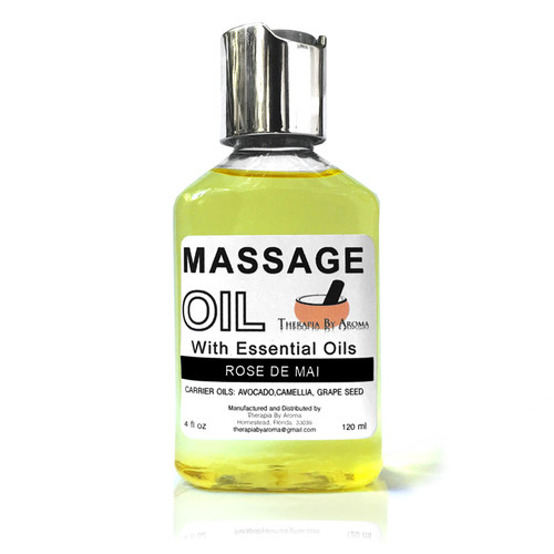 Rose de mai massage oil