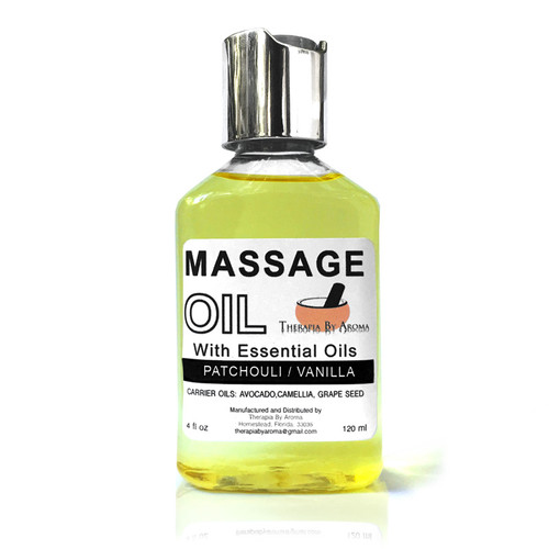 Patchouli vanilla massage oil