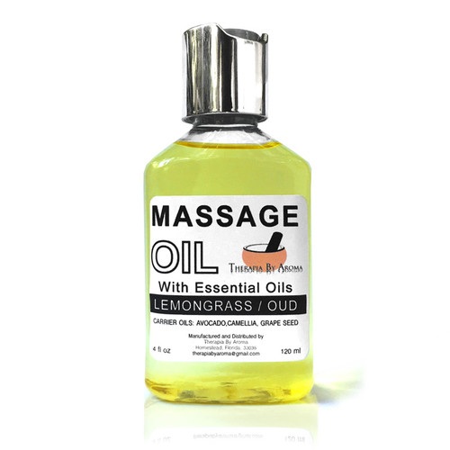 Lemongrass oud massage oil