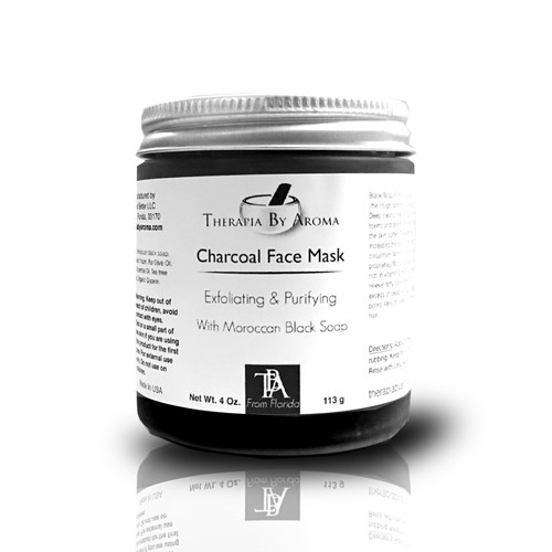 Facial Mask Charcoal and Black Soap essential oil skin care treatment