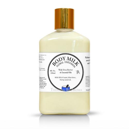 body milk essential oil by therapia by aroma miami