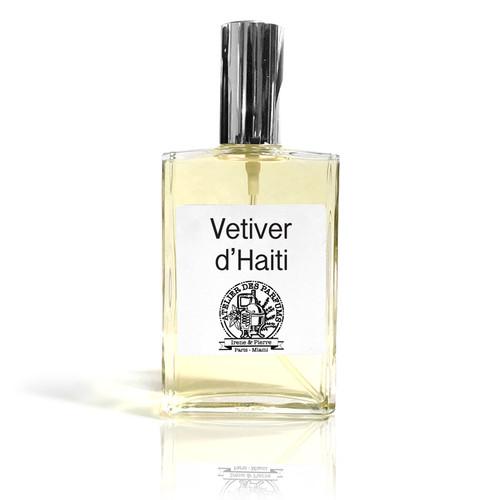 vetiver haiti Natural Eau de Parfum 100ml therapia by aroma. Atelier des parfums.