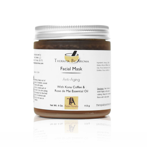 anti aging facial mask honey kona coffee rose essential oil
