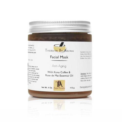 anti aging facial mask honey kona coffee rose essential oil