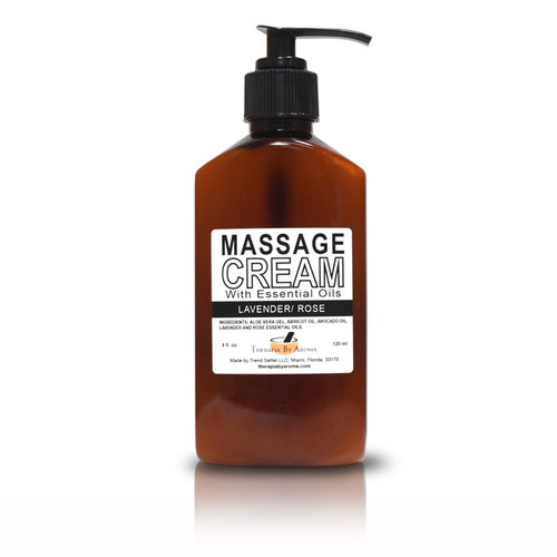 massage cream lavender rose essential oils
